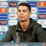 Ronaldo removes 2 Bottles Of Coca Cola, replaces them With water